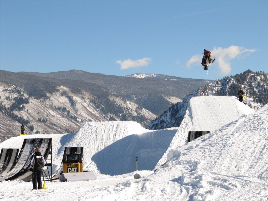 Is the Euro Winter X Games going mainstream? Flickr image of Snowmobile practice by Philip Nelson