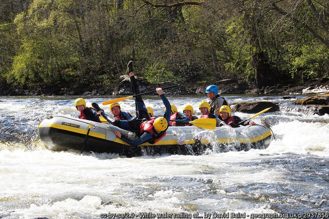 is there an age limit for adventure sports rafting River tay geograph CC image by David Baird