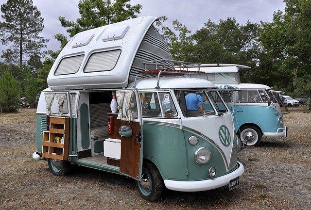 VW Camper Adventure travel legend Royalty free image from pixabay