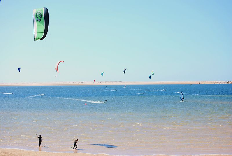 The best kept kitesurfing secrets 4 unknown kitesurf spots to visit Wikimedia CC image of Dakhla, Morocco by Nomadz