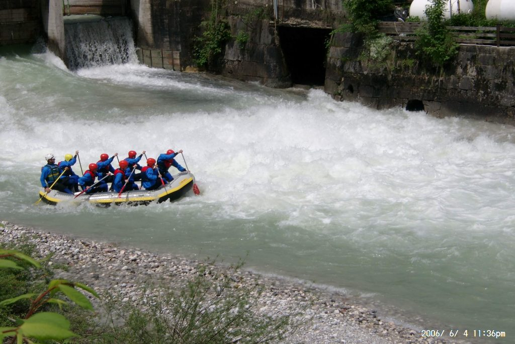 Bavarian summer adventures in Germany Try rafting in Berchtesgaden Image courtesy of R E T Berchtesgaden www.raft-mit.de