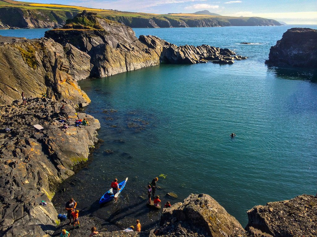 Cheap UK adventure holidays kayaking Blue Lagoon in Wales Flickr CC image by dolbinator1000
