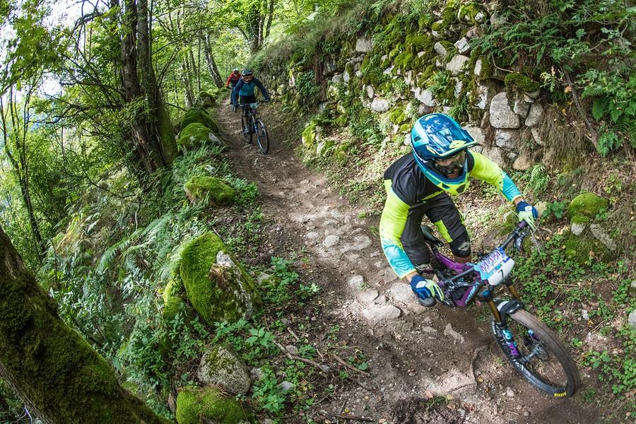 Ax les Thermes to Lacave in Pyrenees one of the best Multi-day MTB routes in France Image of Ax 3 domaine Maxi Avalanche 2018