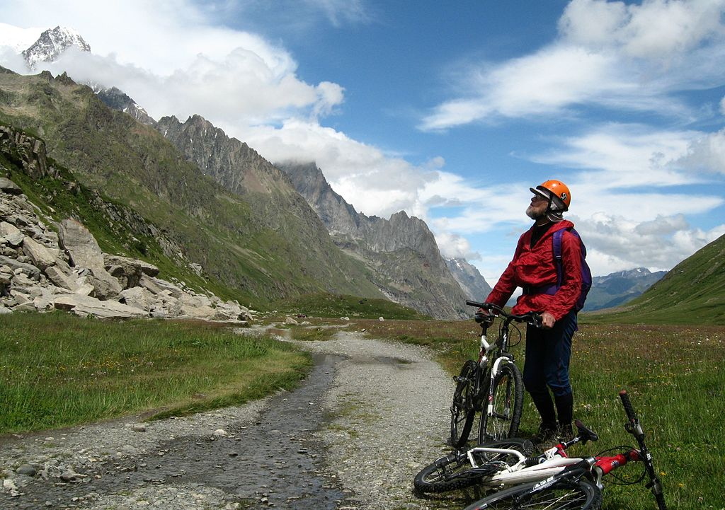 Tour du Mont Blanc one of the best French mountain biking tours Wikimedia CC image by Nick Moyes