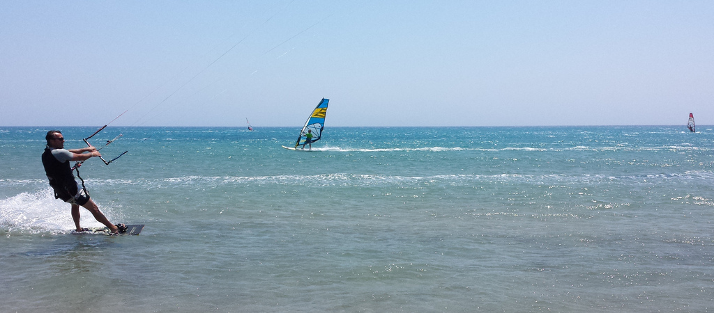 Best adventure honeymoon kitesurfing and windsurfing in Rhodes Flickr CC image by Luigi Rosa