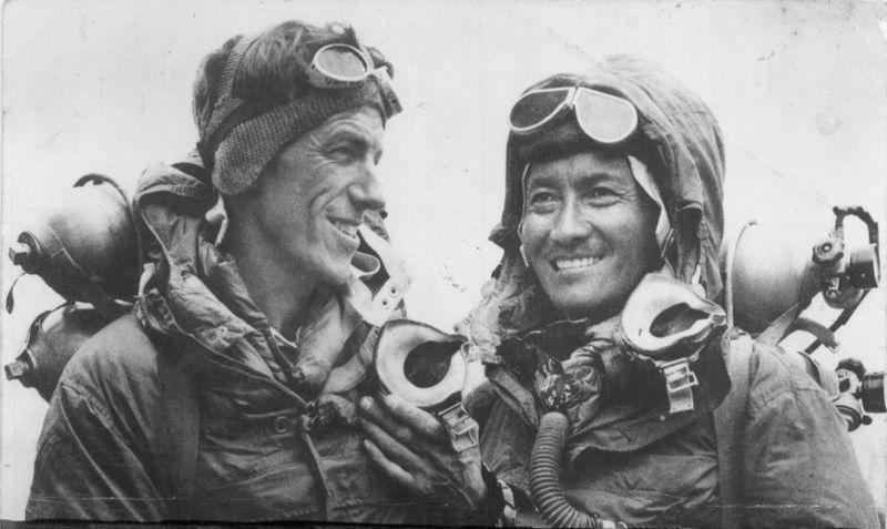 Nepalese Sherpas Sir Edmund Hillary and Tenzing Norgay Wikimedia Creative Commons image