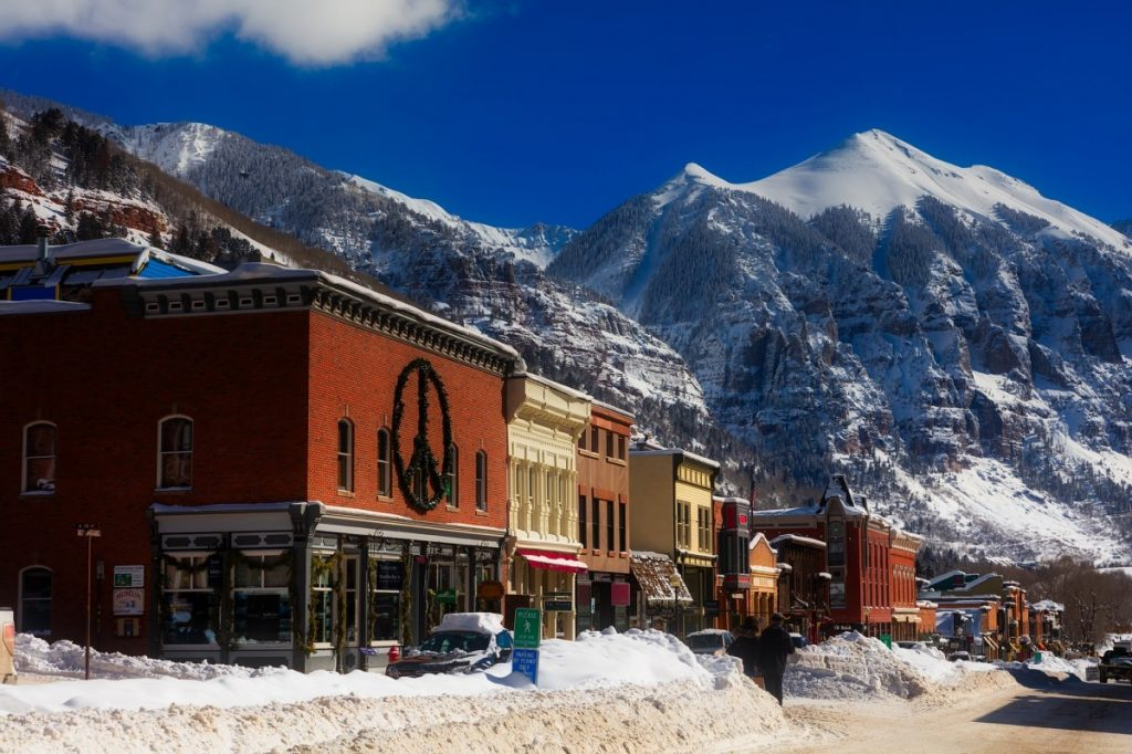 USA skiing holidays Telluride one of the best United States ski resorts