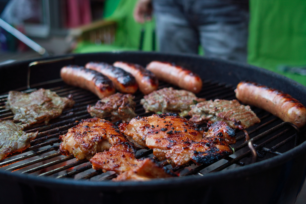 barbeque while camping Flickr CC image by Jun Seita