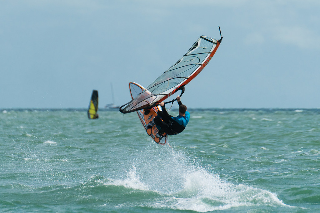 Hayling Island one of the best UK windsurf spots Where to go coastal windsurfing in Britain flickr CC image by alastc