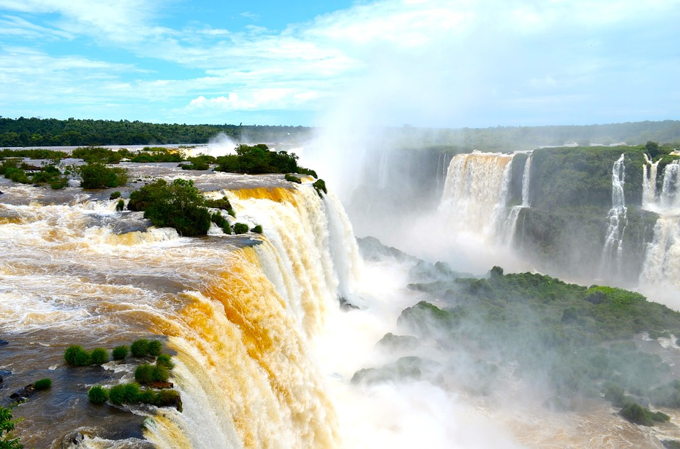 Iguazu Falls one of the best South America adventure travel destinations Pixabay royalty free image