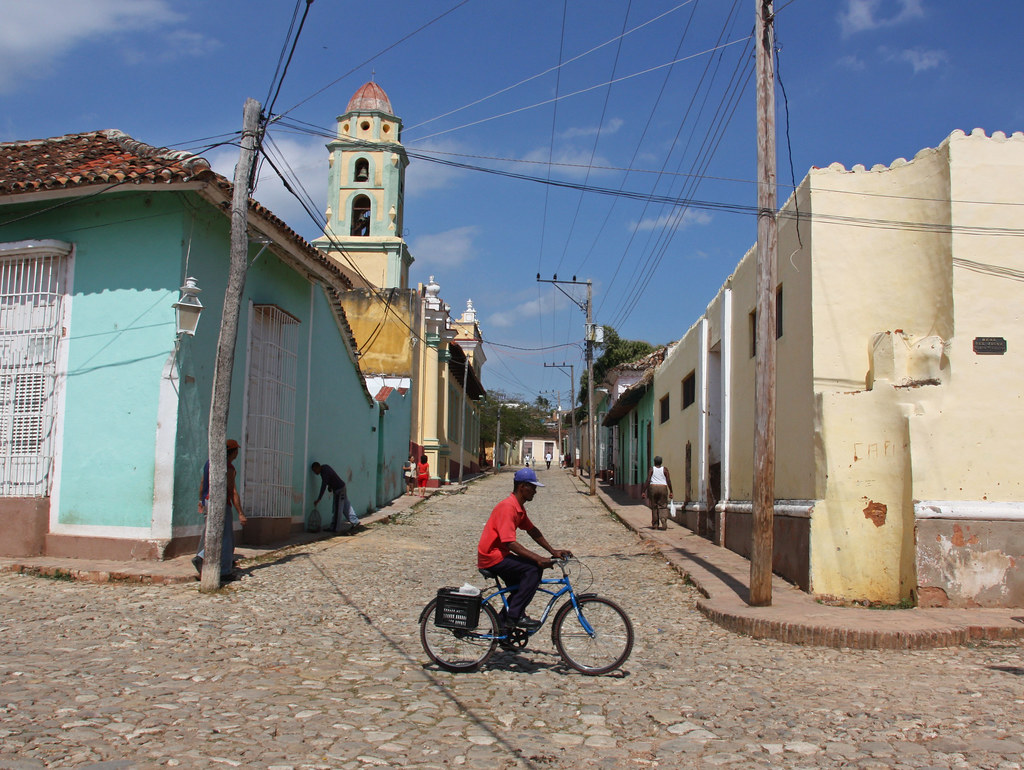 Cycling in Trinidad de Cuba Flickr CC image by neiljs