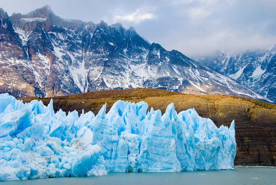 Guide to undiscovered trekking holiday destinations Pixabay royalty free image of Glacier in Torres Del Paine, Patagonia