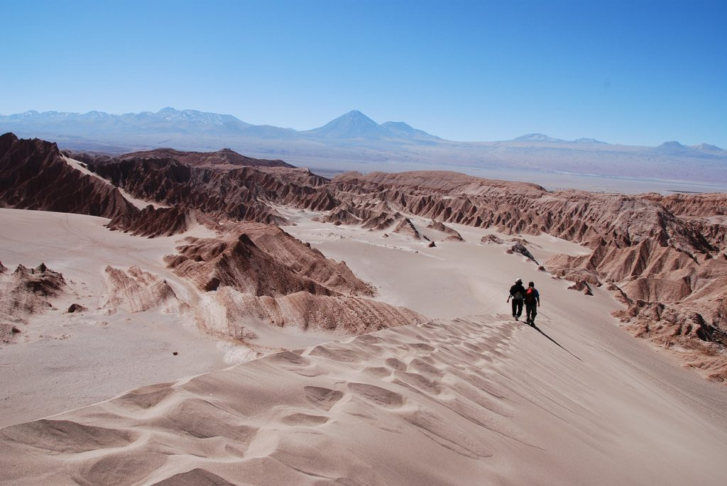 Guide to Chile trekking holidays and 10 best Chilean treks needpix royalty free image of hiking Atacama Desert