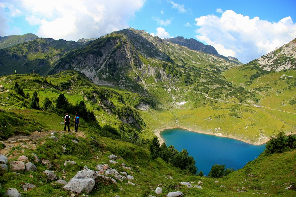 Austrian trekking holidays Formarinsee one of the 10 best long distance treks in Austria Flickr CC image by EladeManu
