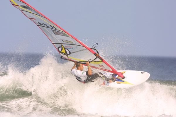 Best winter windsurfing in Europe Image of Peter Volwater by PWA World Tour in Brandon Bay Ireland