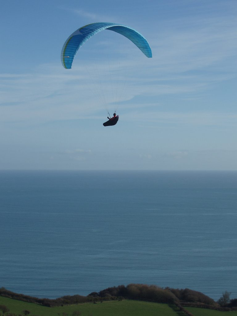 Guide to Bournemouth paragliding holidays and day trips Flickr CC Image by Lets Go Out Bournemouth and Poole