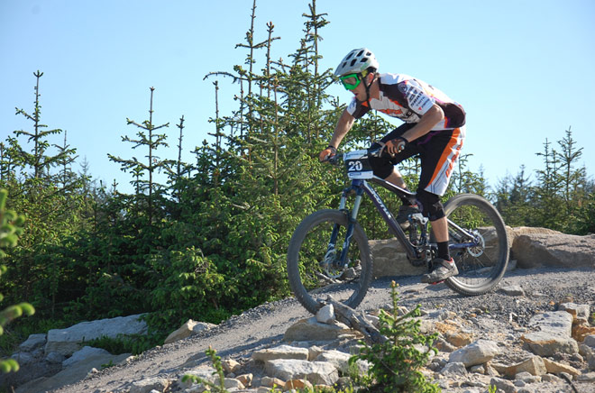Interview with Alex Stock Pro mountain biker for Team Kona image from Kona website