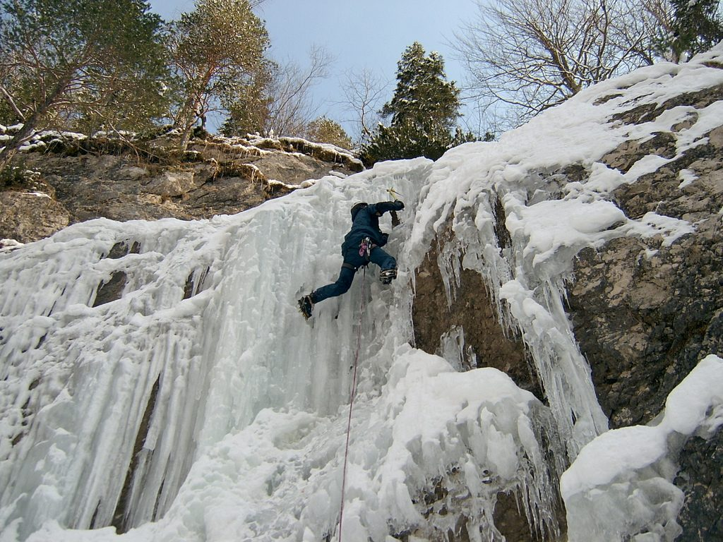 Ice climbing one of the best activities in slovenia - CC Flickr image by Danilo Tic