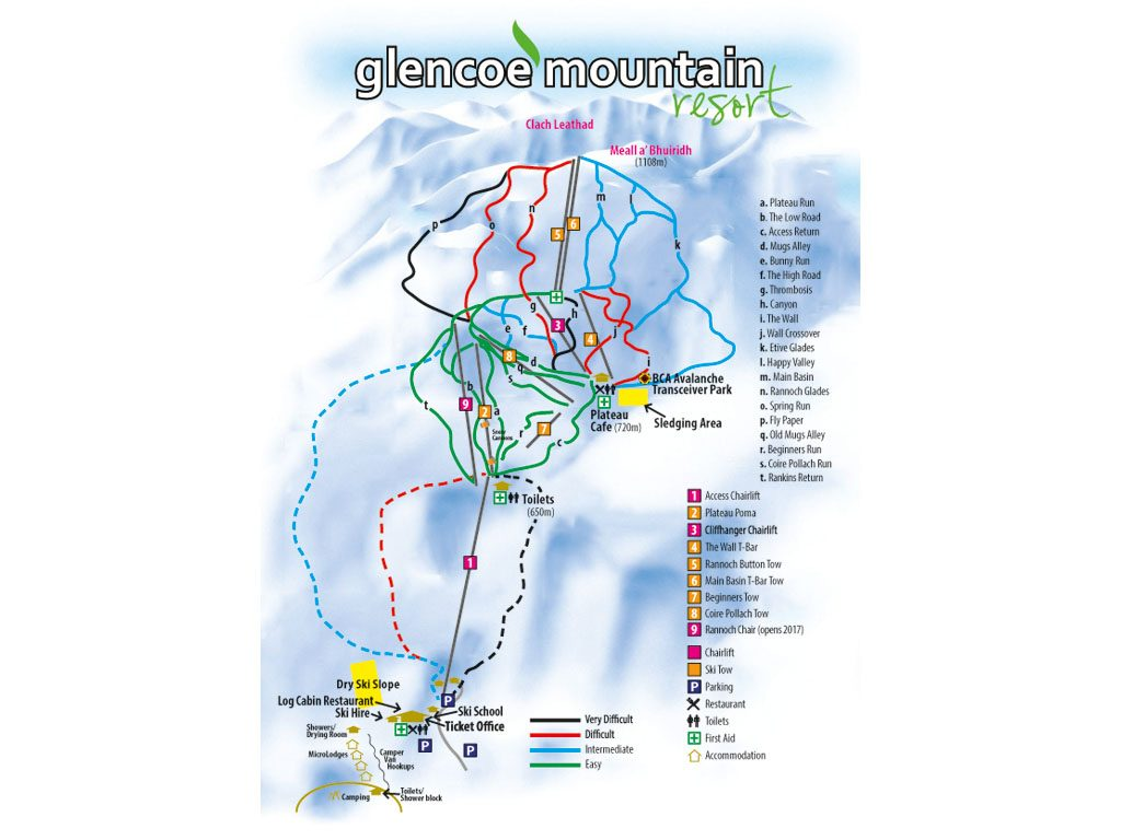Best British ski areas Guide to skiing in Scotland Image courtesy of Glencoe Mountain