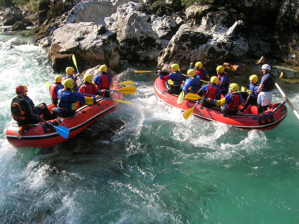 Slovenian adventure holidays Rafting soca river one of the best activities in Slovenia Flickr CC image by indiawest