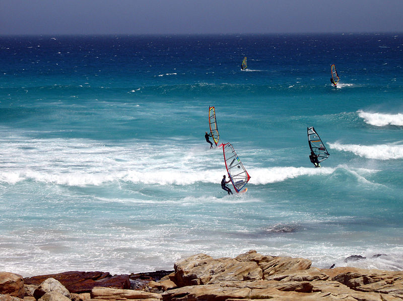 Best windsurfing for experts windsurfing cape of good hope South africa wikicommons image by Octagon