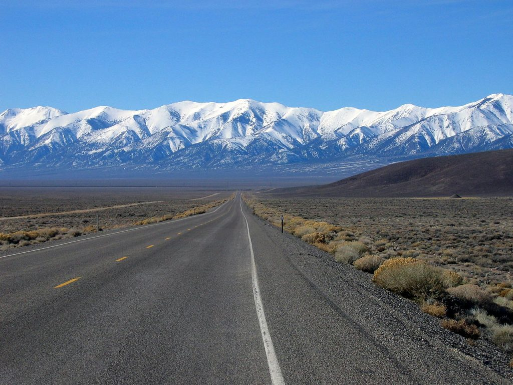 Overland adventures US route 50 in Nevada one of the 3 loneliest roads in the world Wikimedia commons image by Ron Reiring