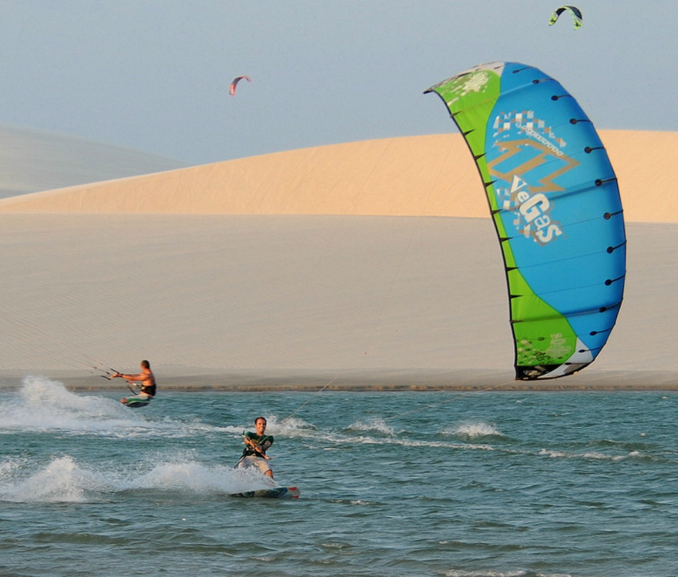 Brazilian kiteboarding holidays in Jericoacoara one of the 14 Best Brazil kitesurf spots image by FreerideKitesurf