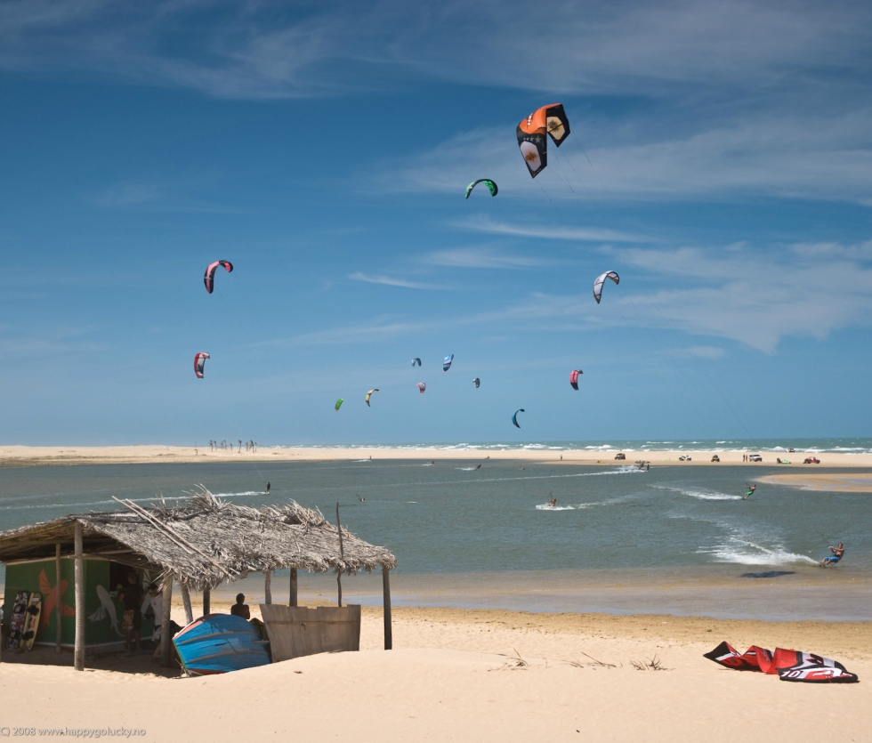 Brazilian kiteboarding holidays in Tailba one of the 14 Best Brazil kitesurf spots image by FreerideKitesurf