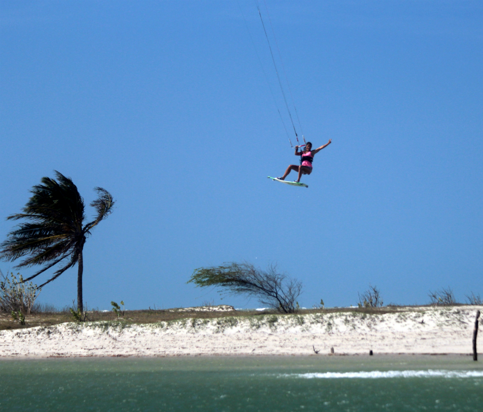Brazilian kiteboarding holidays in galinhos one of the 14 Best Brazil kitesurf spots image by FreerideKitesurf