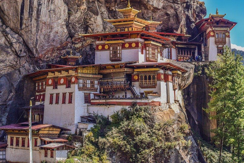 Tiger's Nest Monastery in Bhutan Pixabay Royalty free image