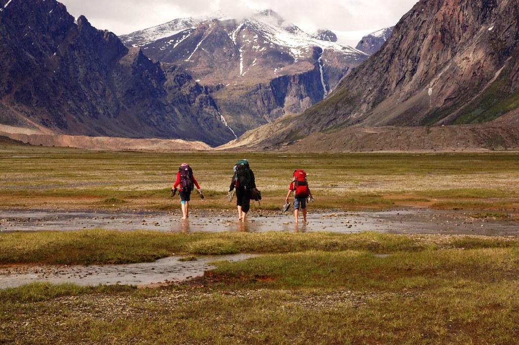 Trekking in Auyuittuq National Park, Baffin Island, Nunavut, Canada Flickr CC image by pmorgan