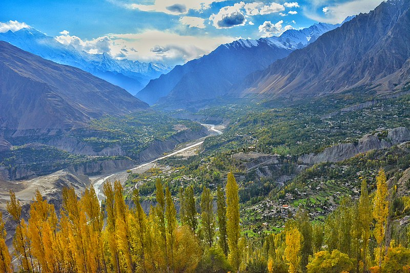 best undiscovered trekking holiday destinations Wikimedia CC image of Hunza Valley byIjlal2278