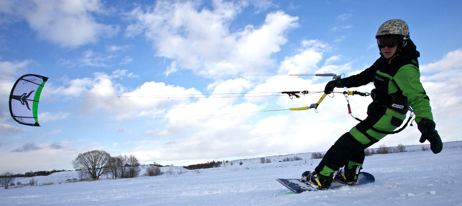 Learn to snowkite in Europe Flickr image by Konstantin Zamkov