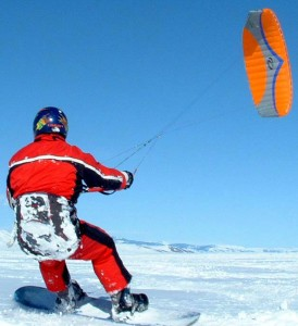 Learn to snowkite in Europe Flickr image by Big Dubya