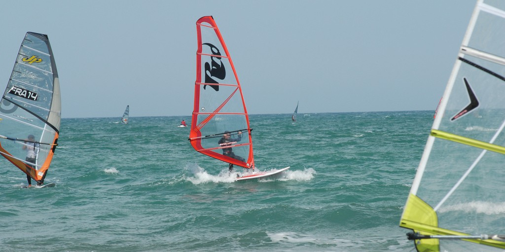 Summer windsurfing in Europe: Leucate in France one of the 11 best places for European windsurf holidays Flickr image by  Leucate Mediterranee