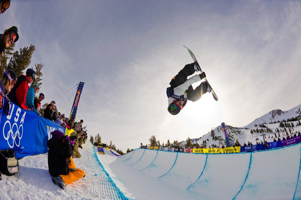 Halfpipe a popular snowboard style Flickr CC image by John Lemieux