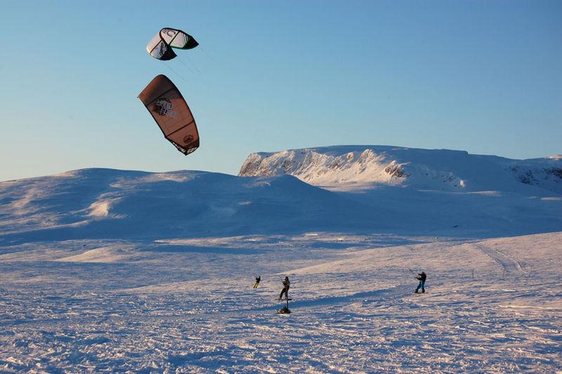 Snowkite Iceland Wikimedia image by Petter Tore Berget