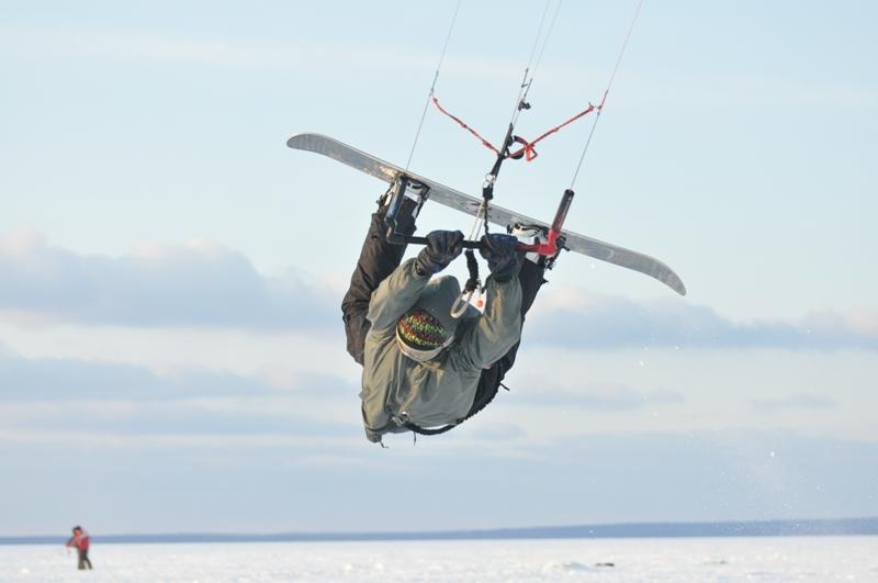 What is snowkiting? flickr image by Konstantin Zamkov