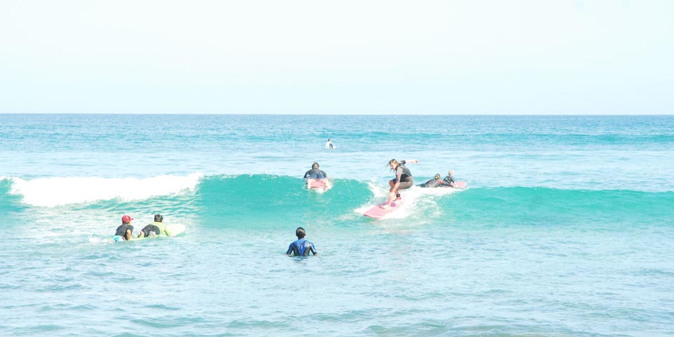 While in Mexico learn to surf at Los Cabos