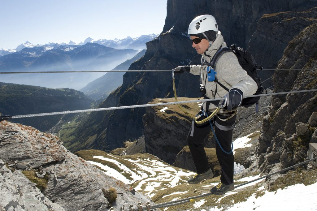 types of extreme sport - via ferrata - Flickr CC image by Leukerbad Loèche-les-Bains