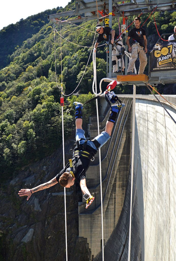 Contra dam one of the 11 best bungee jumps in Europe: Bungy European style! Flickr image by Irene Grassi