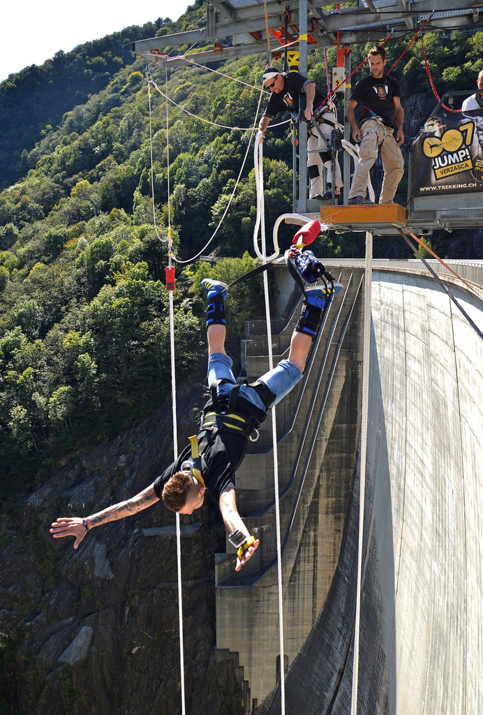 13 of the best bungee jumping destinations worldwide 007 Verzasca Dam Switzerland Flickr image by Irene Grassi