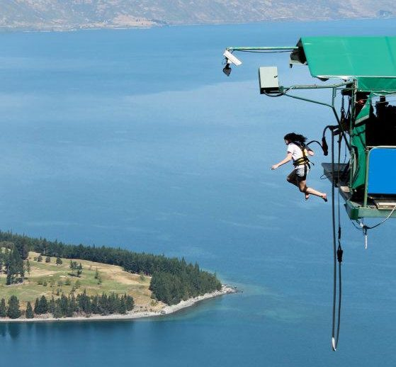 Interview with AJ Hackett: Inventor of bungy jumping? Ledge queenstown Flickr image by clobocopy