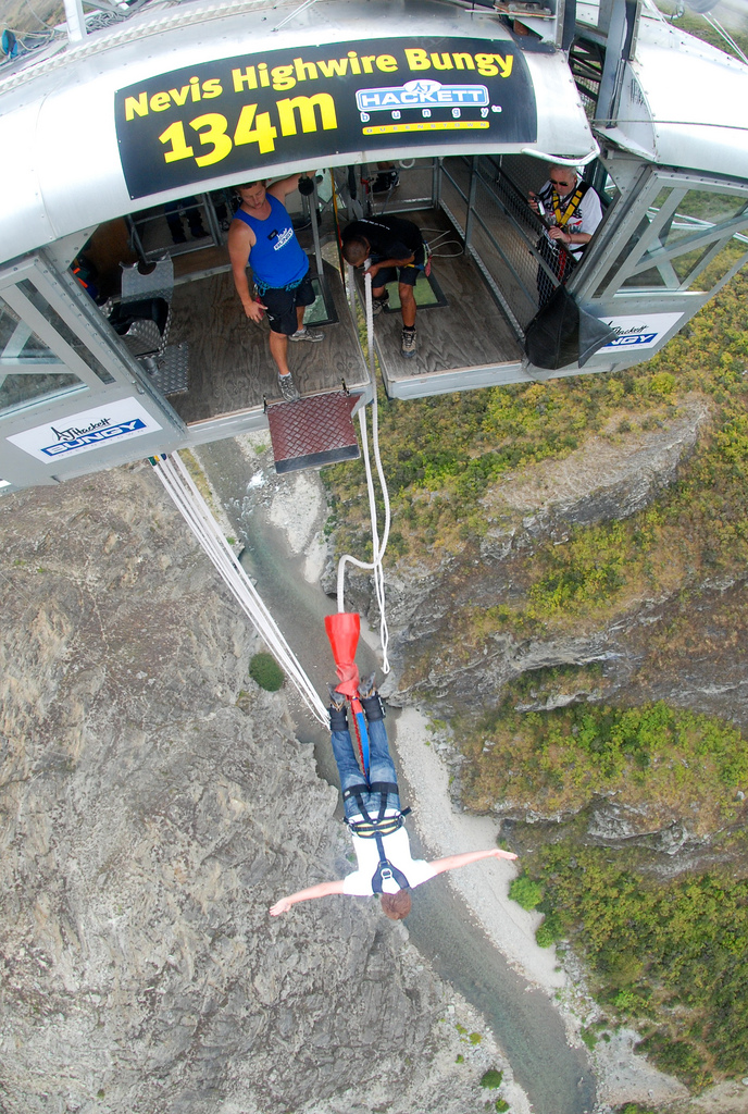 13 of the best bungee jumping destinations worldwide Nevis Highwire Queenstown. Flickr image by Steve AM