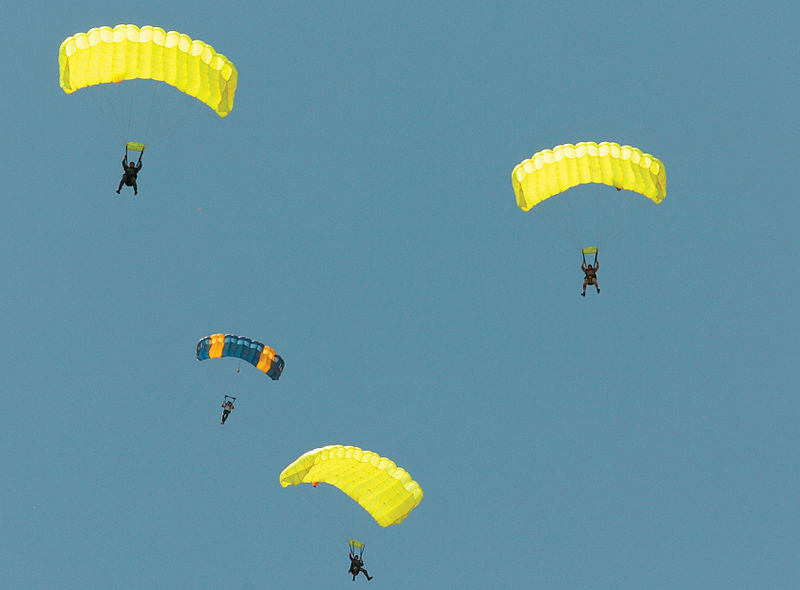 A summary of parachute types Wikimedia image by Shane T. McCoy