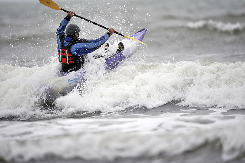 Different types of kayaking Wikimedia image by Sgt Russ Nolan RLC