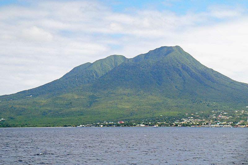 Sailing the Caribbean Islands Wikimedia image of Nevis by David Broad