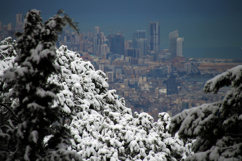 Snow in Beirut one of the best Middle East overland adventures Flickr image by rabiem22