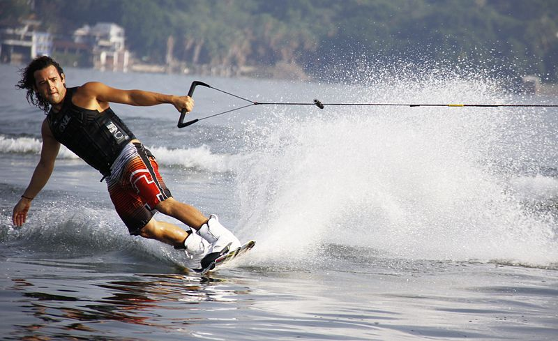 Wakeboard in Portugal Wikimedia image by Tequesquitengo