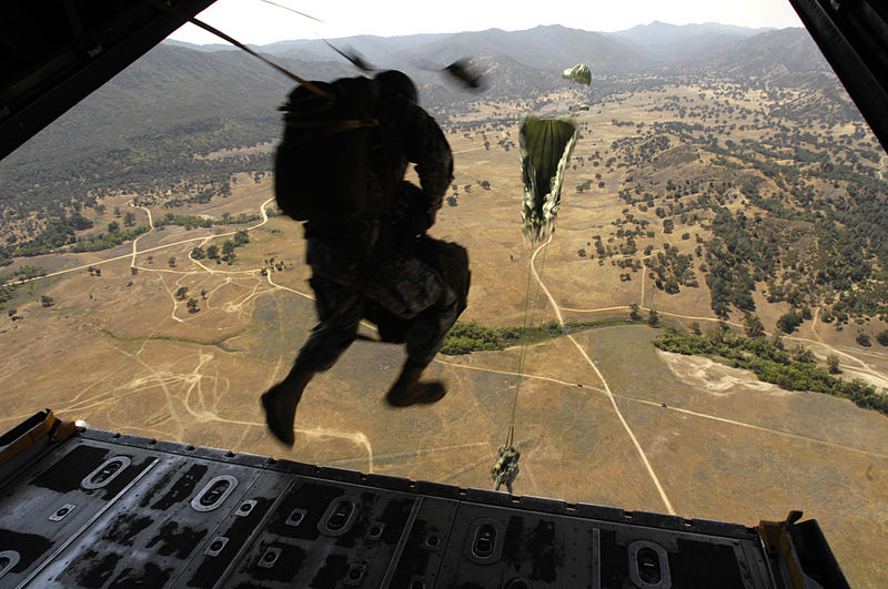 A summary of parachute types Wikimedia image by California